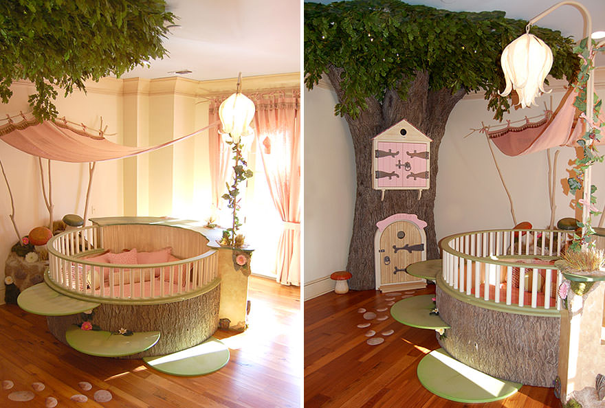 Adorable Tree House Bed Design