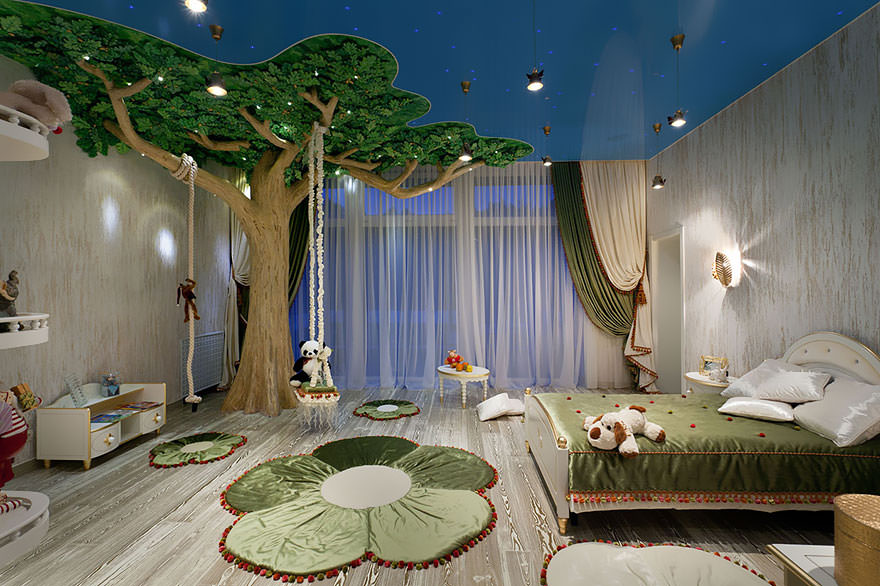 Artistic Tree House Bed Design