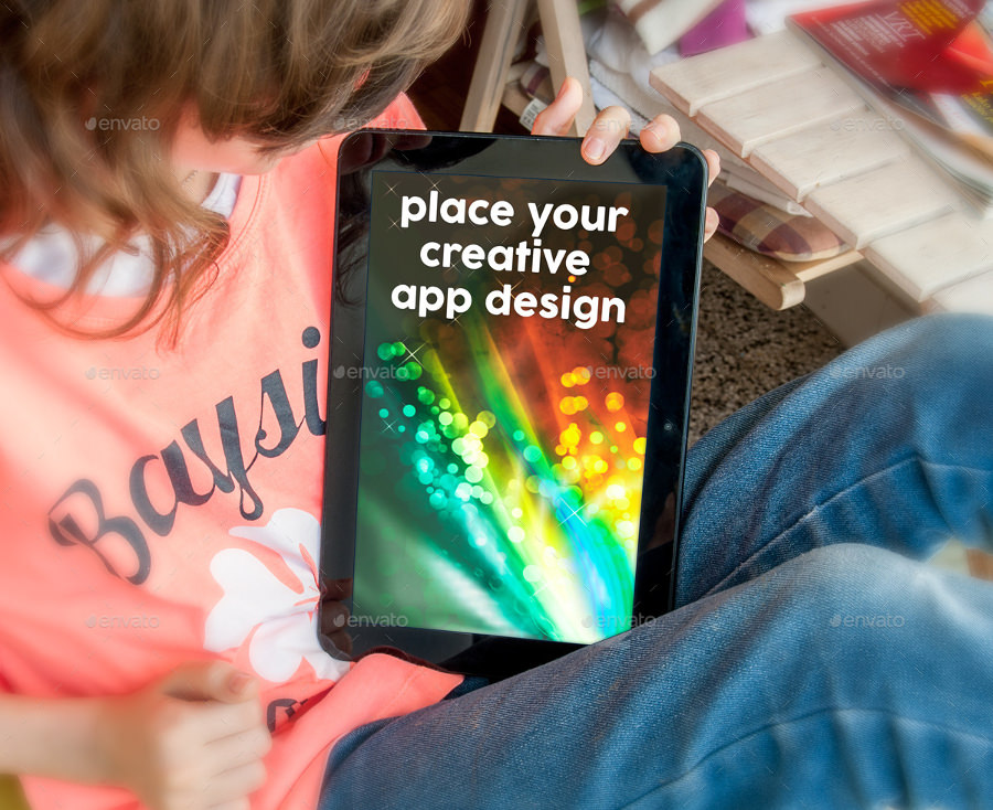 kids tablet mockup