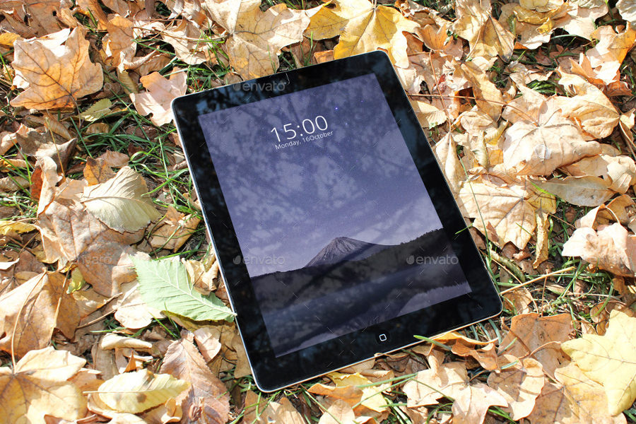 Tablet Mockup Autumn Theme
