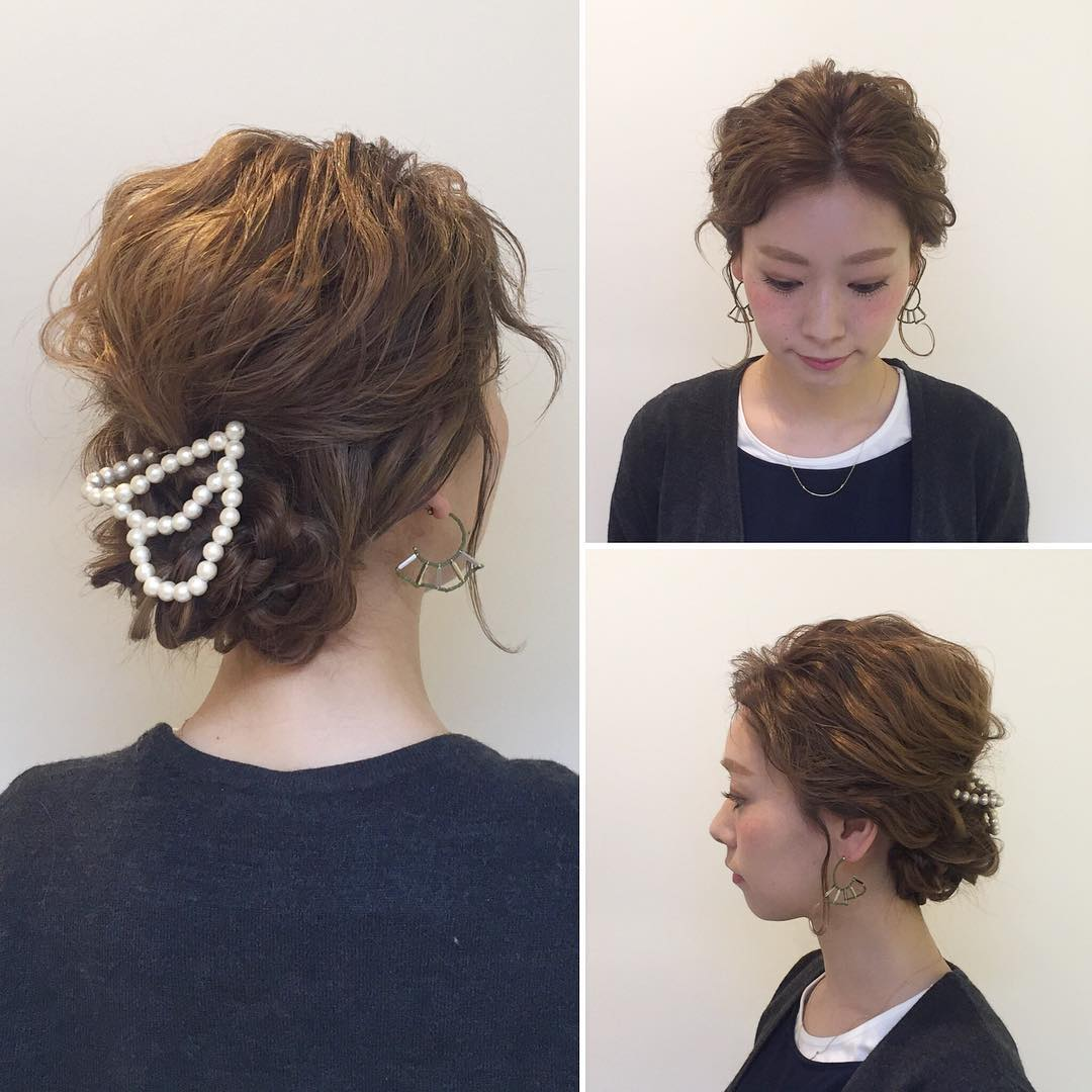 Decorated Pearls on Short Hair