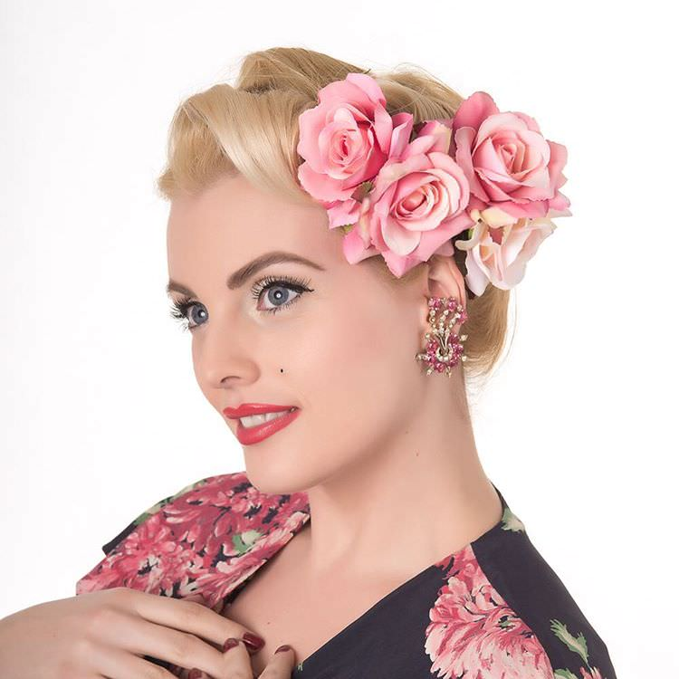 Pinup Flower Hairstyle