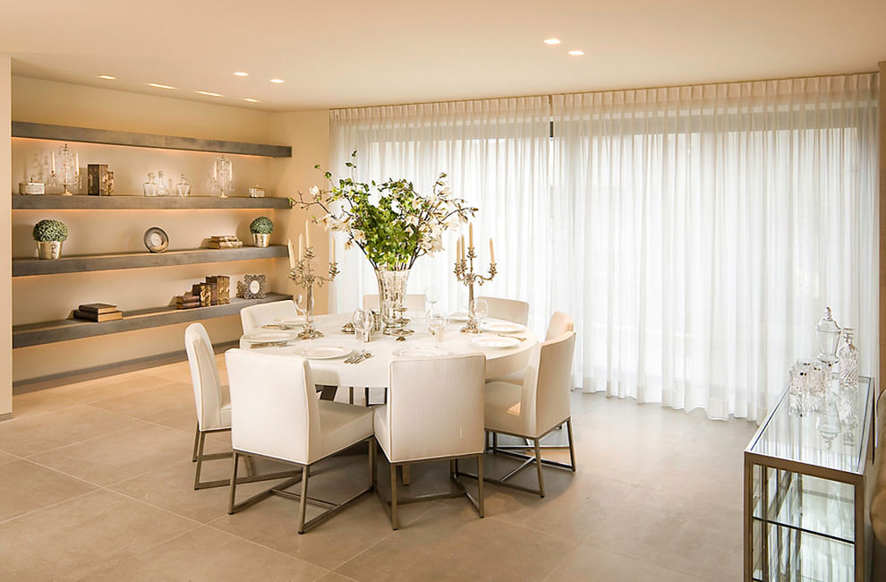 luxrious modern dining room design