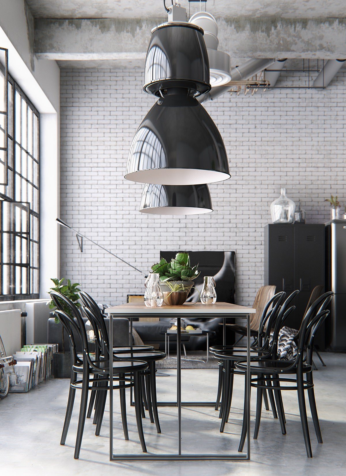 black modern dining room design