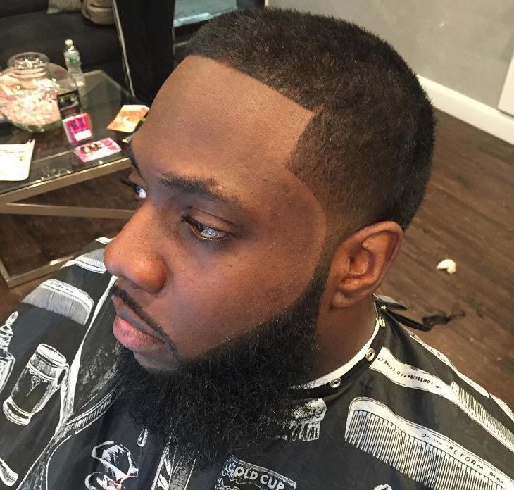 Taper Haircut Black Men Waves 32
