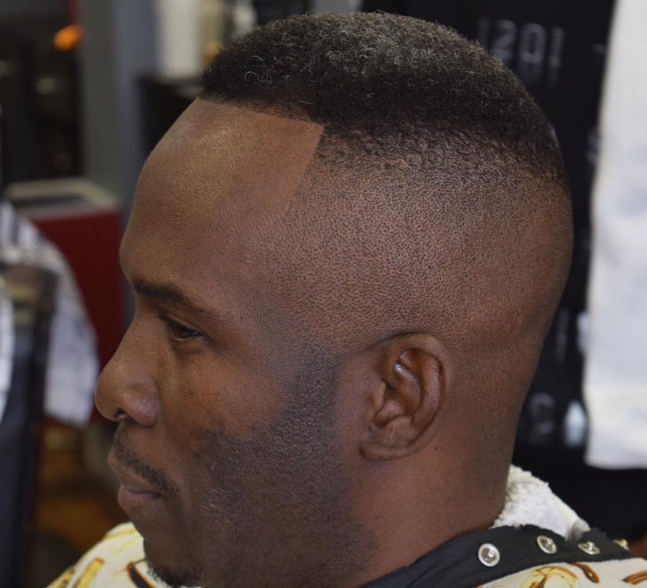 mid fade haircut for black men