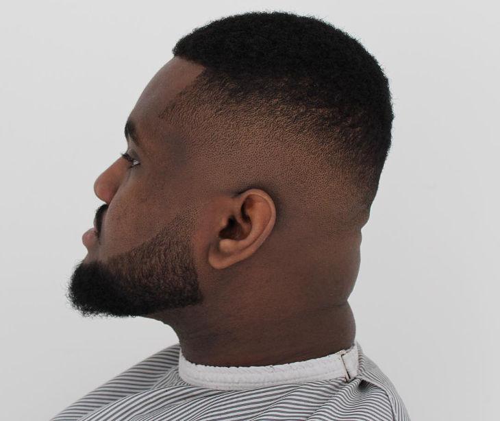 Drop Fade Haircut Black Men