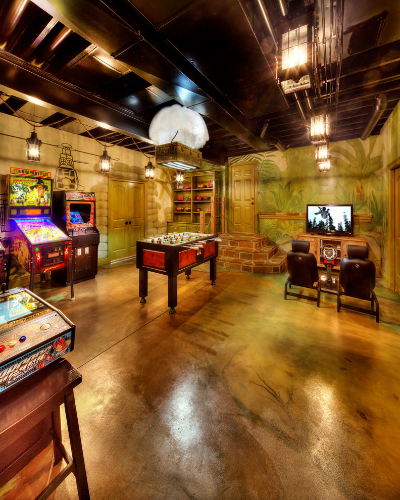 Tropical Game Room Design