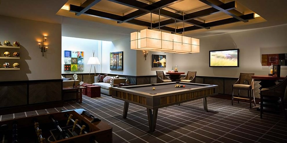 Stylish Game Room Design