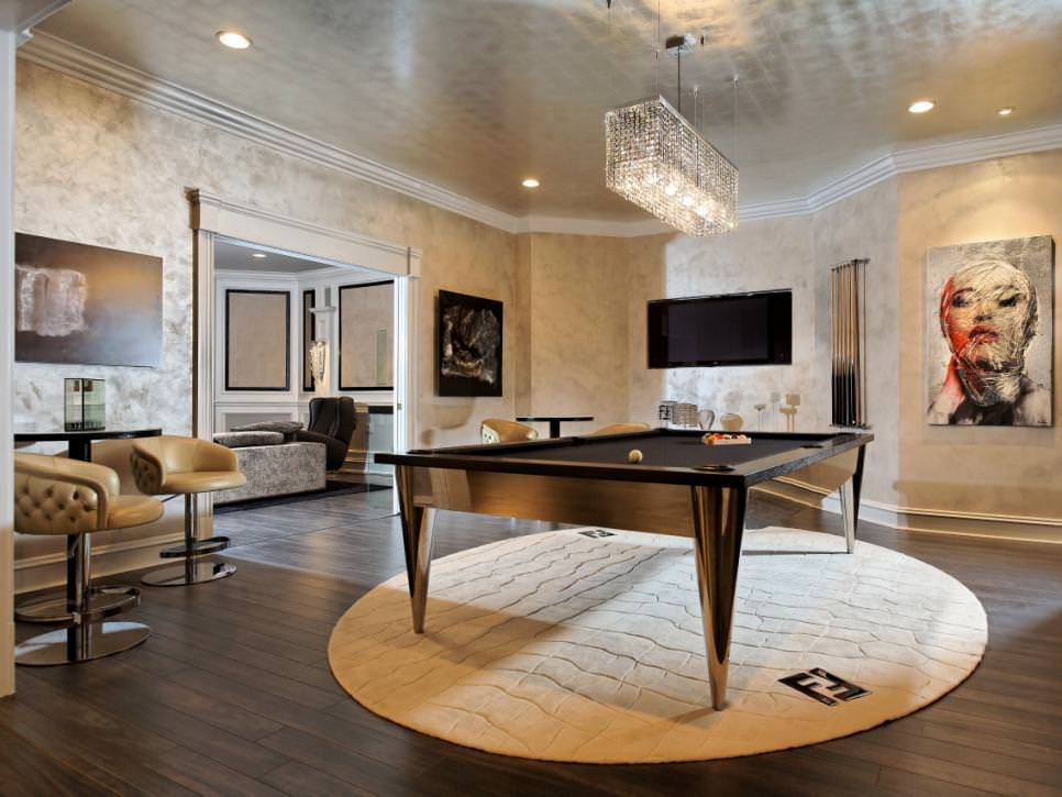 Glamourous White Game Room