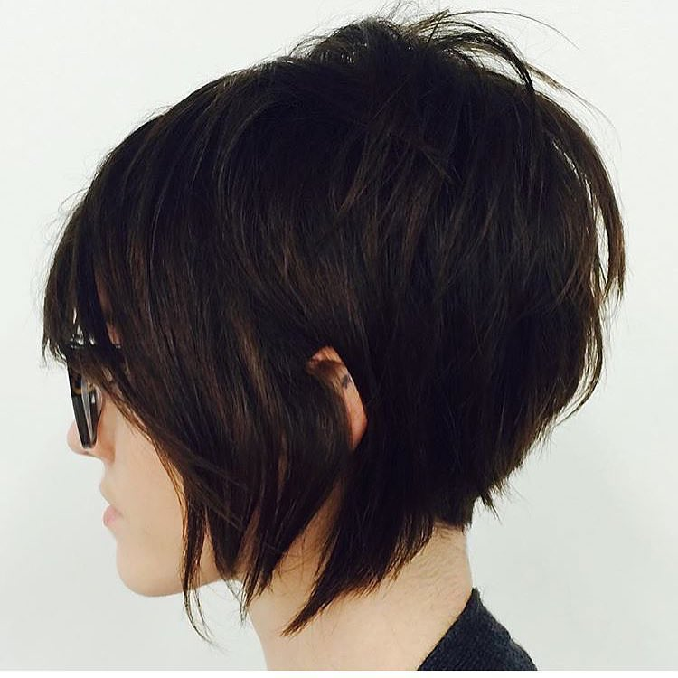 Messy Short Bob Haircut