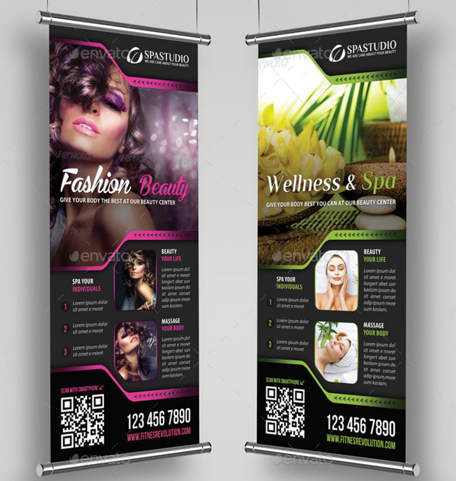 Stylished Roll Up Banner Mockup