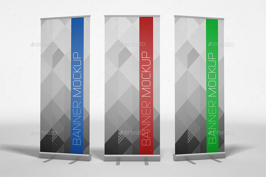 Flat Roll up Banner Mockup Ideas
