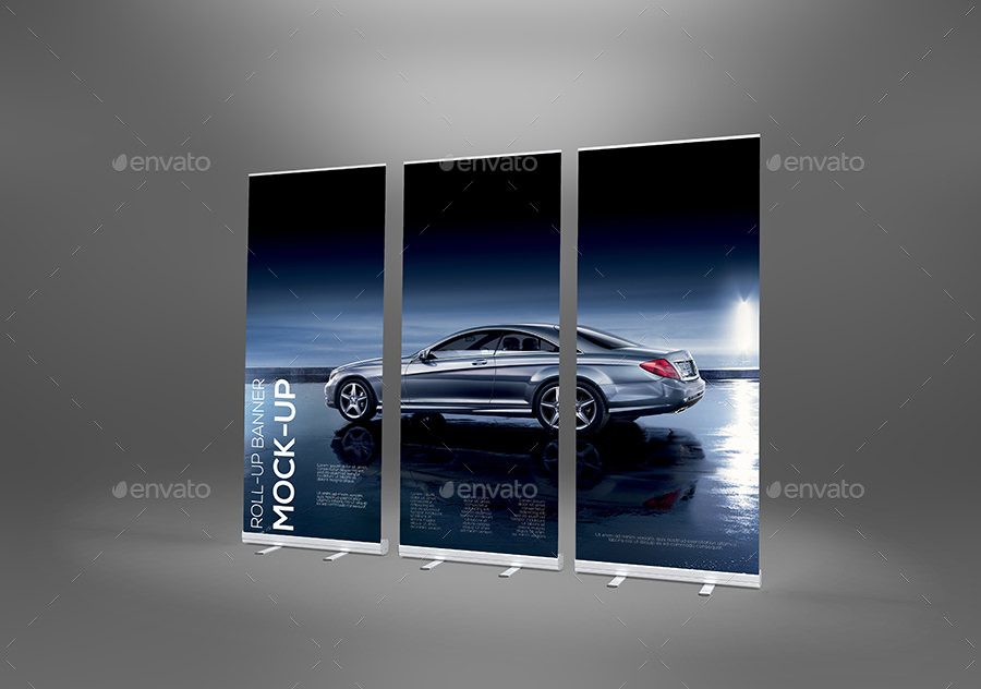 crazy roll up banner mockup