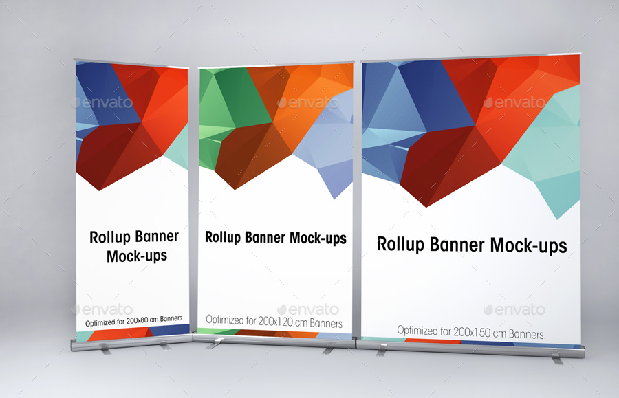 big roll up banner mockup