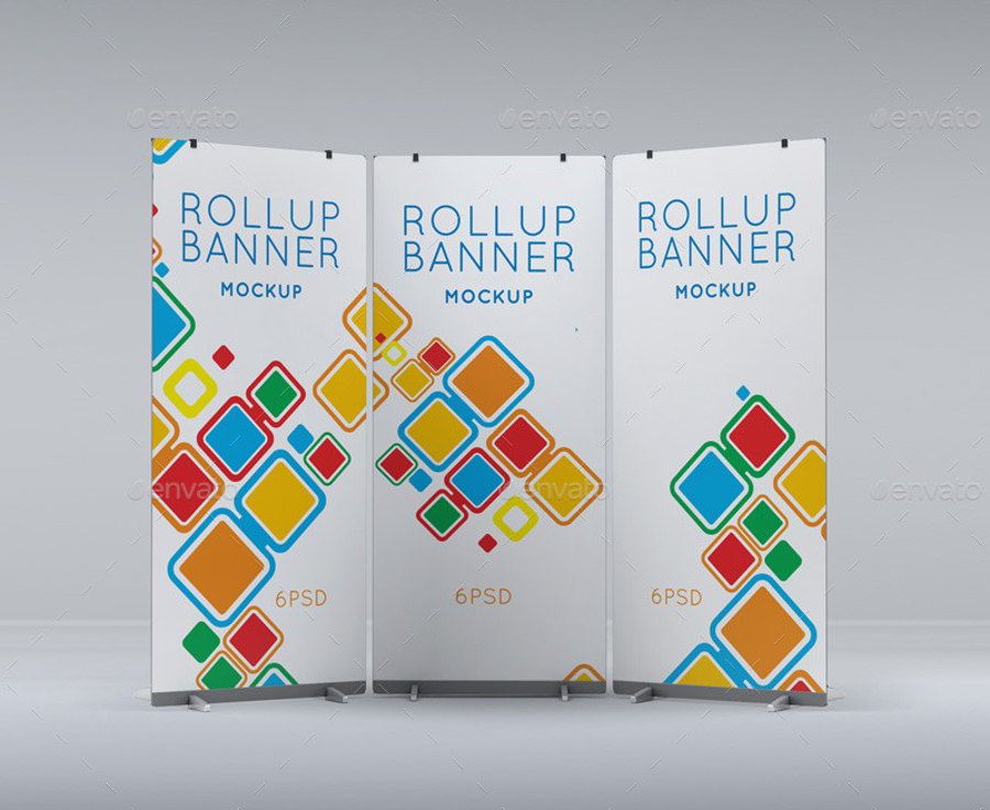 Tournament Roll Up Banner Mockup