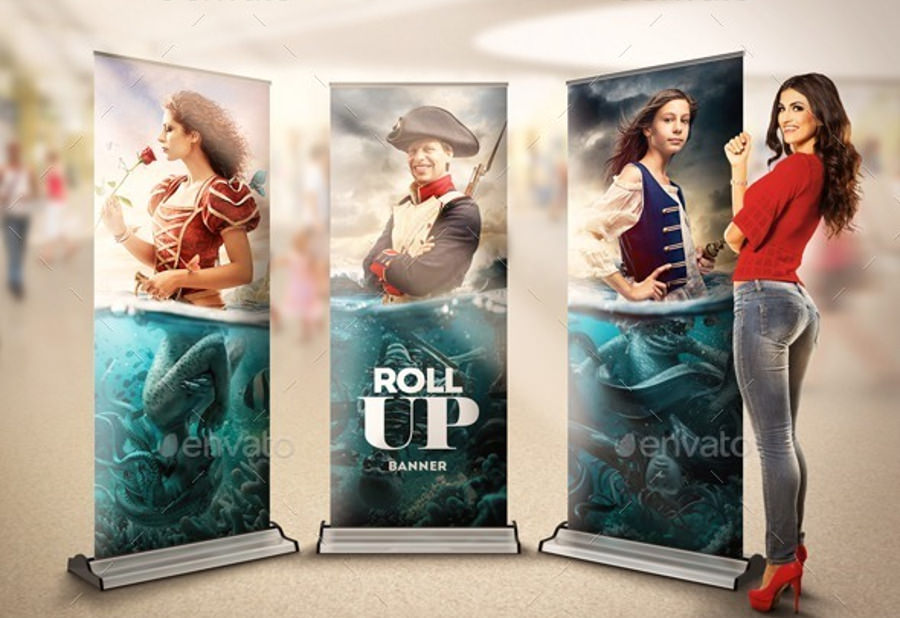 Amazing Roll Up Banner Mockup