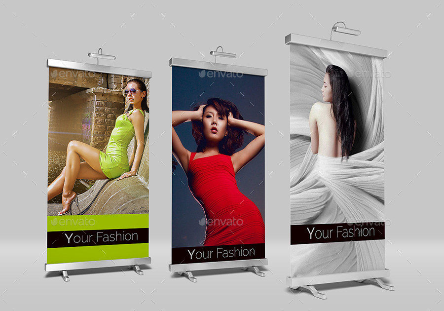 Beautiful Rolll Up Banner Mockups