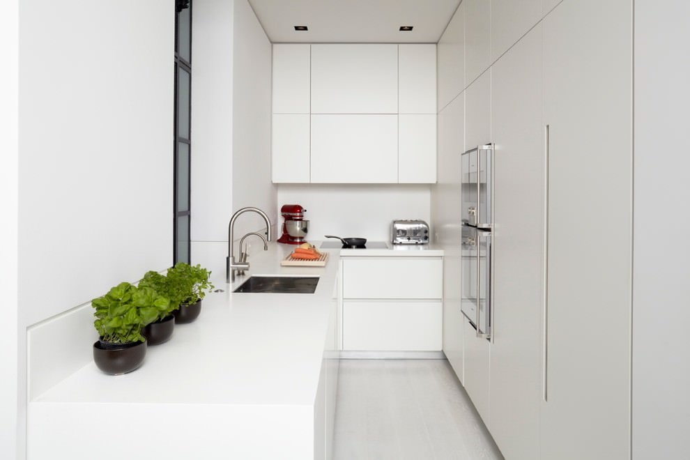 Small Modern L shaped kitchen design