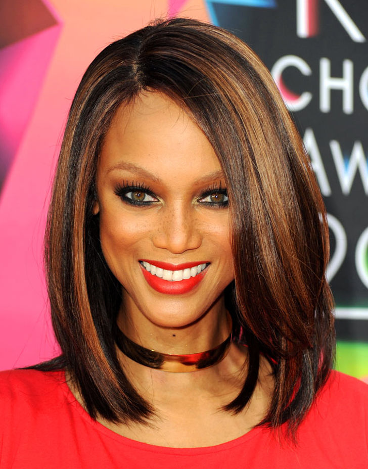 tyra banks hairstyle with simplicity