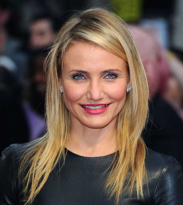 cameron diaz stylish feathery haircut