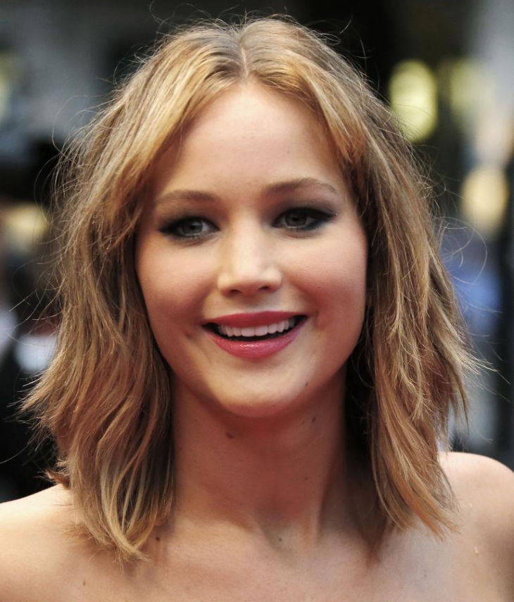 jennifer lawrence round face haircut