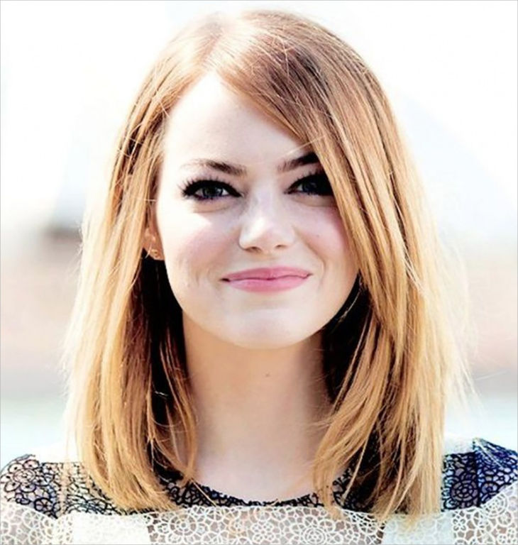medium short and simple like emma stone