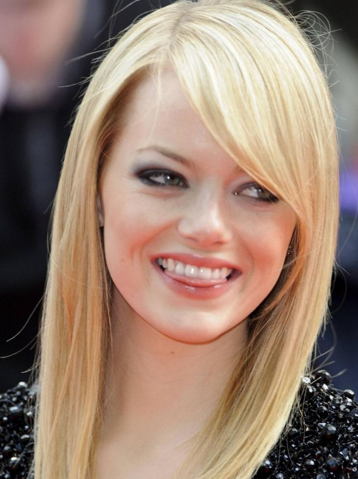 medium hairstyles with layers by emma stone