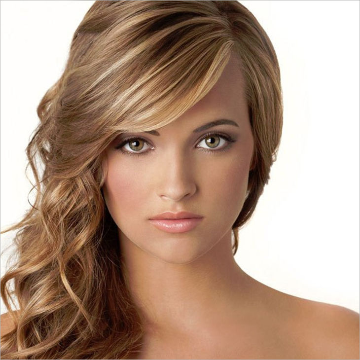 medium hairstyle for round faces