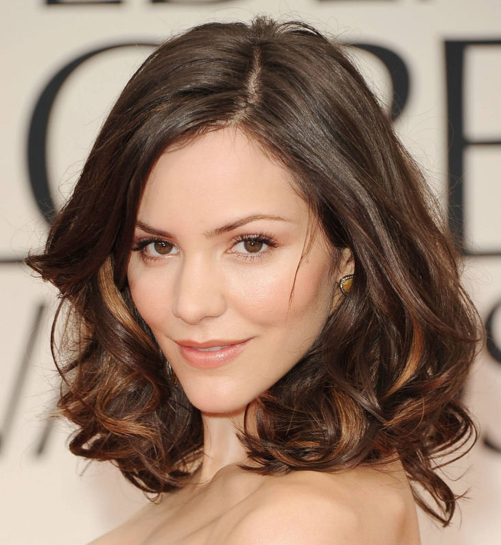 bangs and medium layers by katharine mcphee