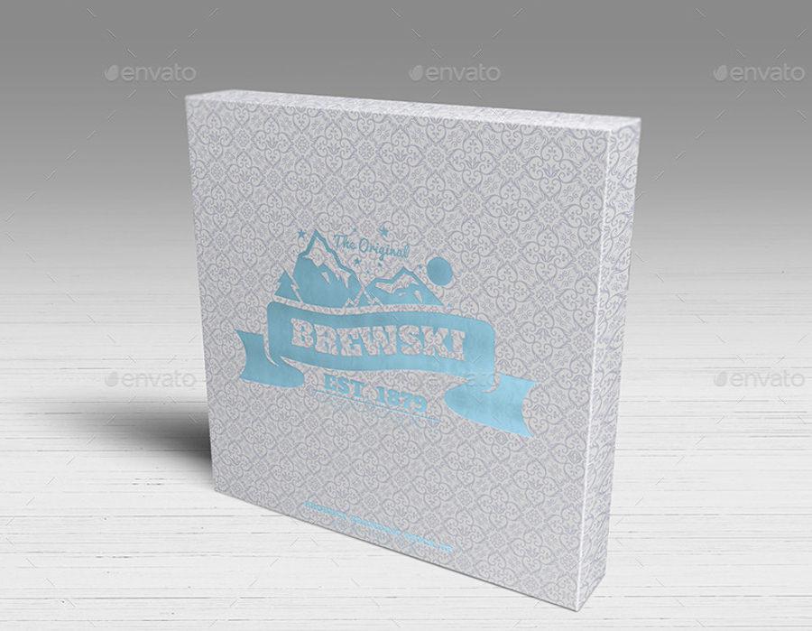 branded product logo mockup