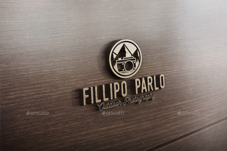 Outdoor Photography Logo Mockup