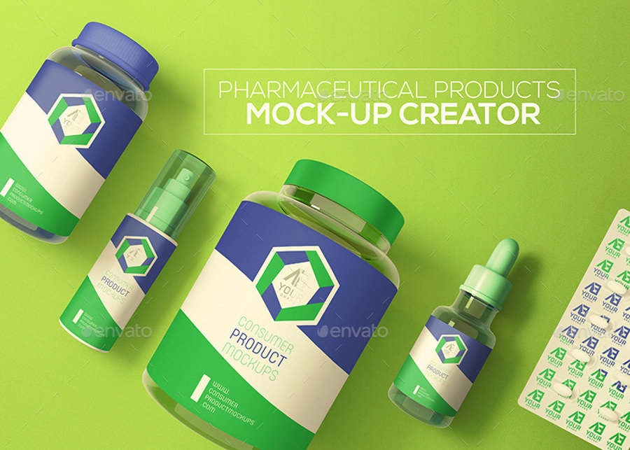 Pharmaceutical Products Logo Mockup