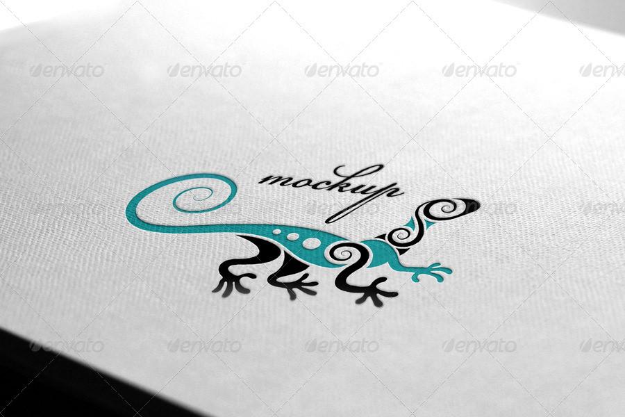 stylish stamping logo mockup