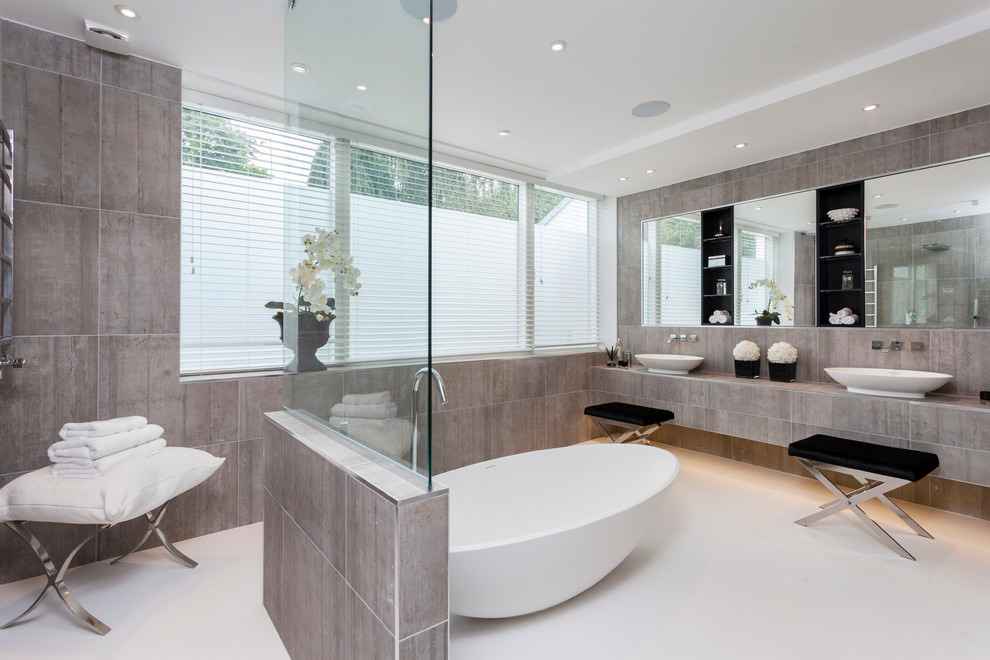 classic contemporary bathroom desgin