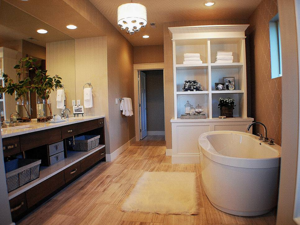 contemporary bathroom freestanding tub