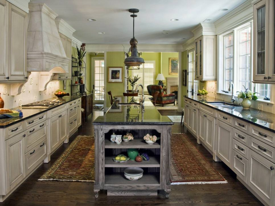 Green and White Traditional Kitchen remodel