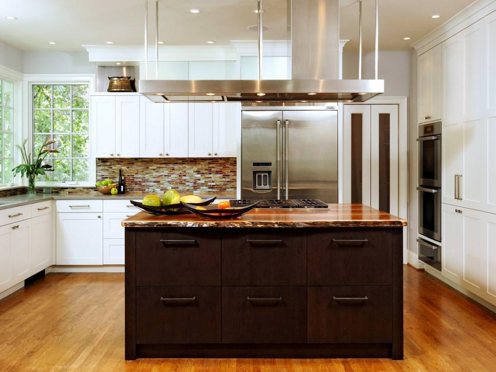 Contemporary Kitchen Remodel With Dark Wood Kitchen
