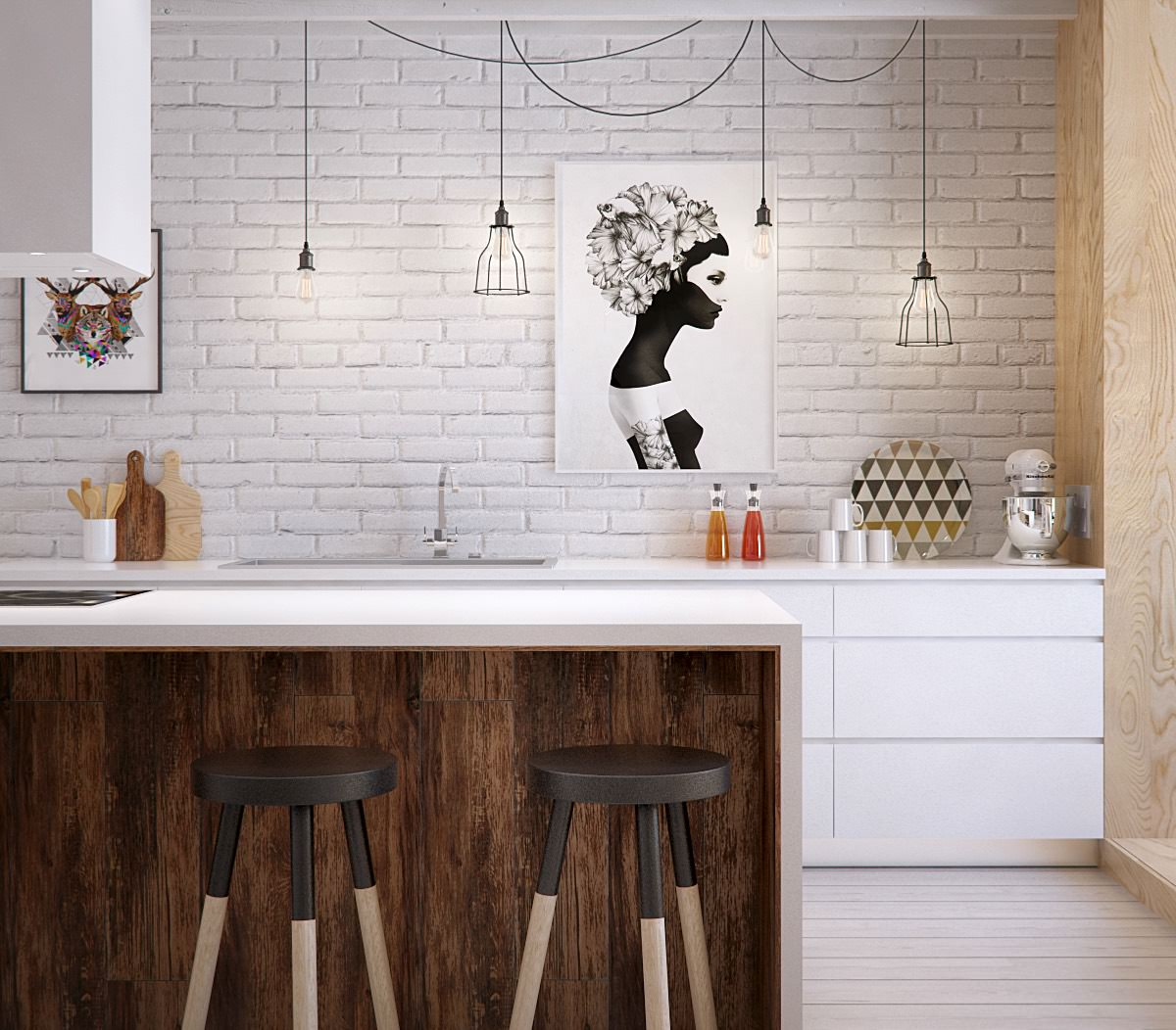 artistic comtemporary kitchen design