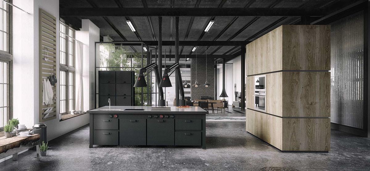 open comtemporary kitchen design