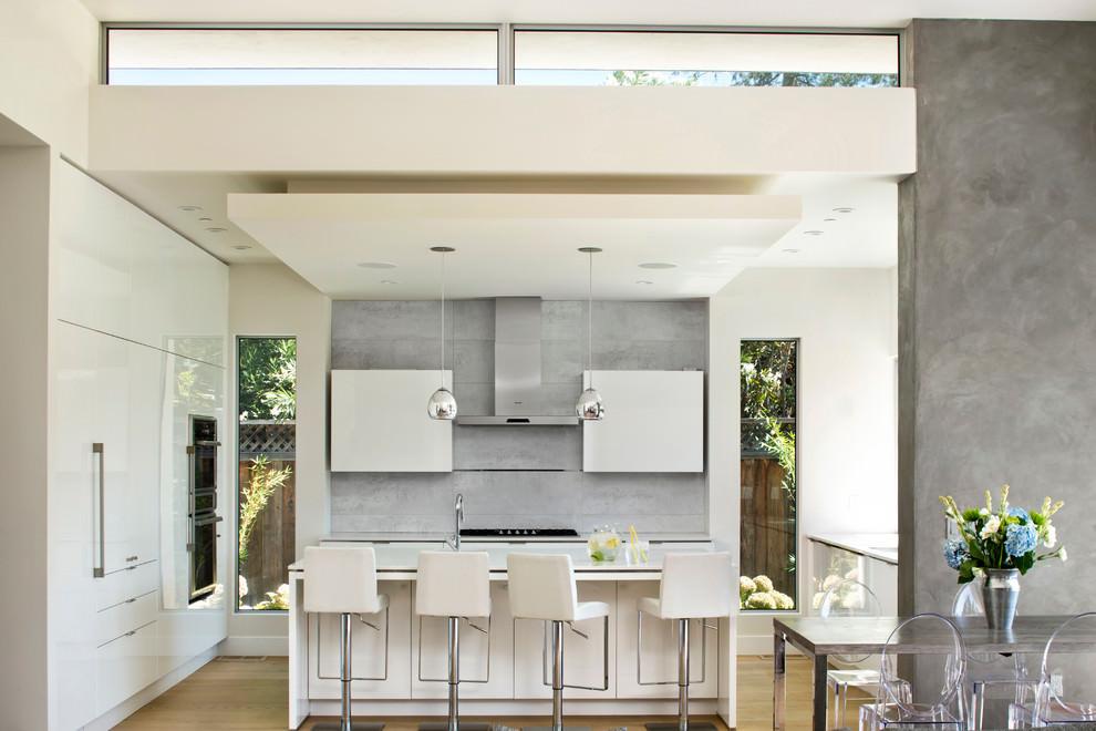 elegant white contemporary kitchen