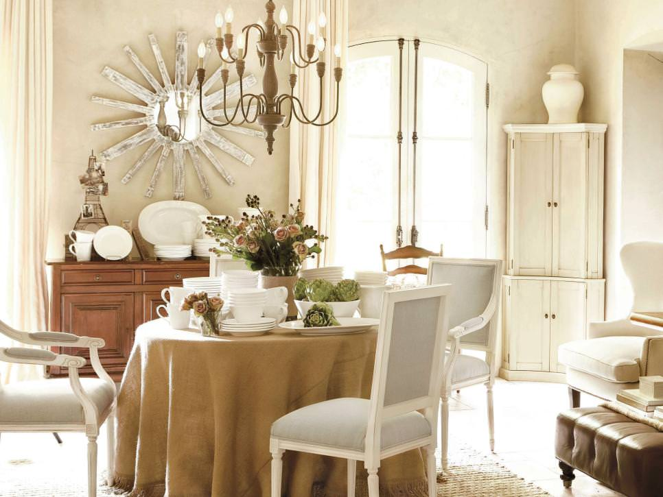 Neutral French Country Dining Room