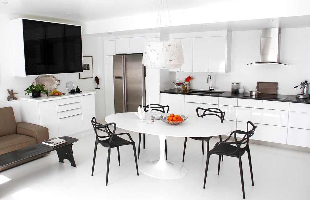 sophisticate white contemporary kitchen