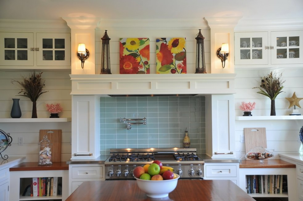 Brilliant Blue Kitchen Tile Design
