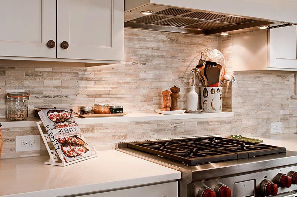 Brick Block Kitchen Tile Design