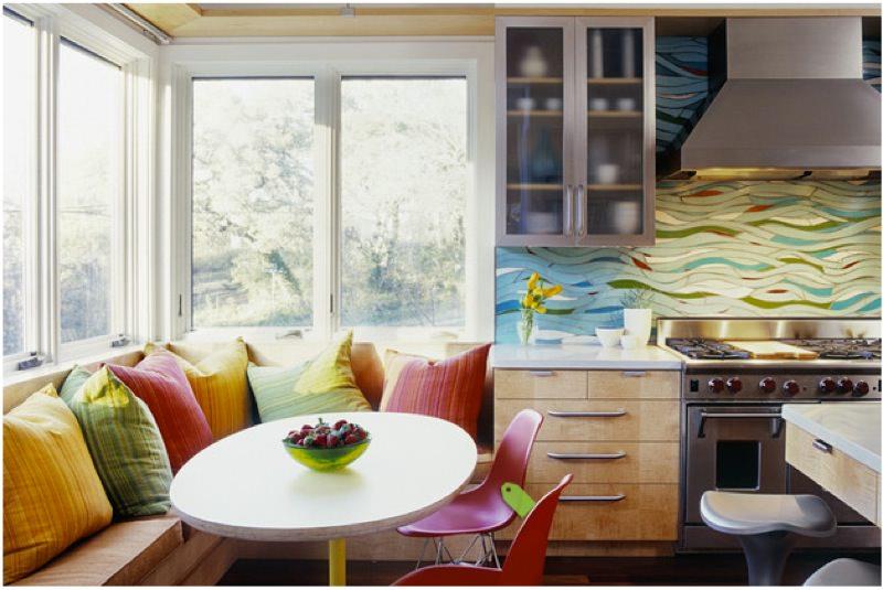 Multicolor Kitchen Tile Design