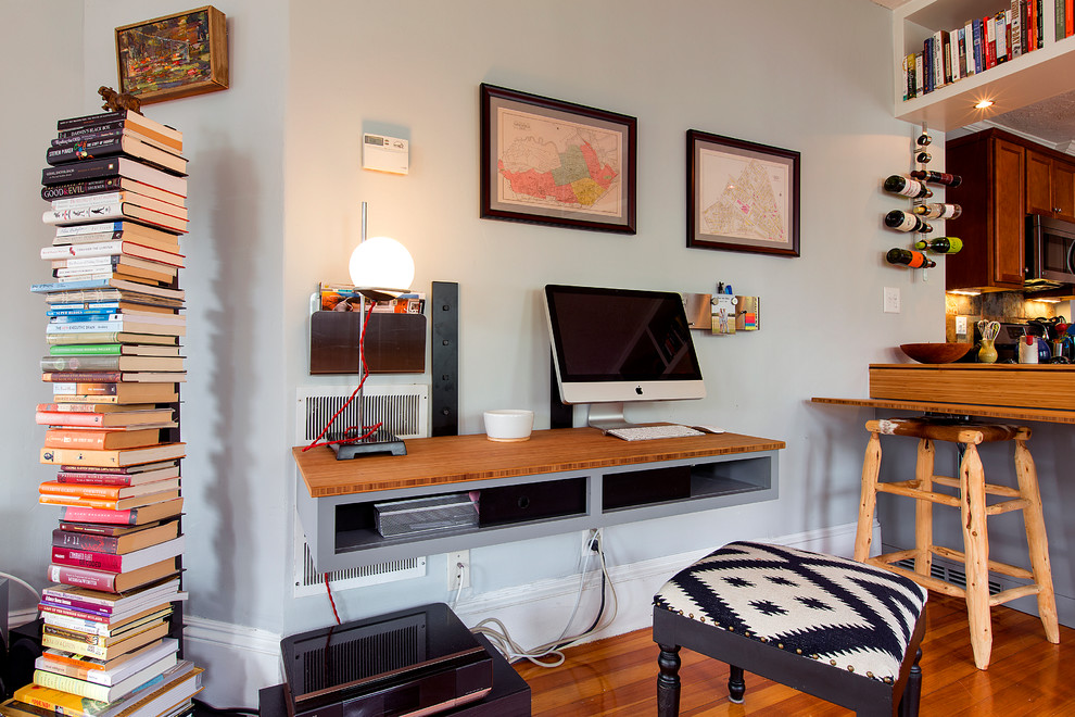 eclectic home office design idea