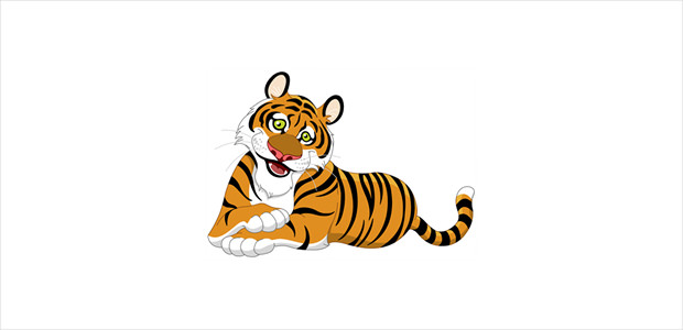 nice tiger clipart