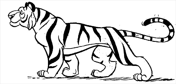 walking tiger clipart