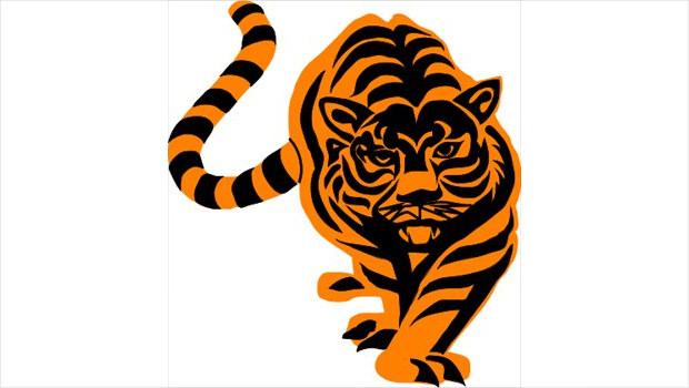 elegant tiger clipart